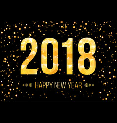 2018 happy new year background golden vector image vector image