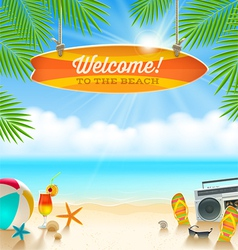 Summer holidays vacation vector image