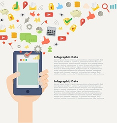 Element of Mobile application concept icon in flat vector image
