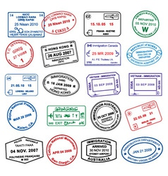 Clean passport stamp vector