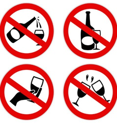 No alcohol symbol vector