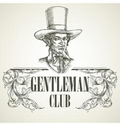 Gentlemens club Vintage vector image