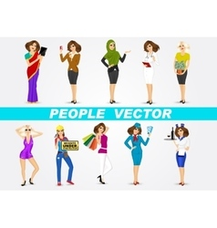Set of 10 professions vector