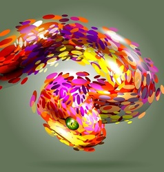 Colorful detail snake vector