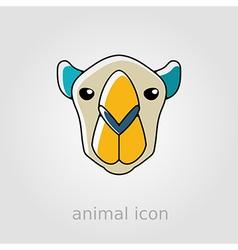 Camel flat icon animal head symbol vector