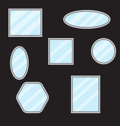 Mirror set design form vector