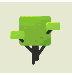 a square tree with green foliage vector image