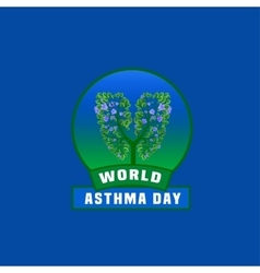 Asthma day logo vector