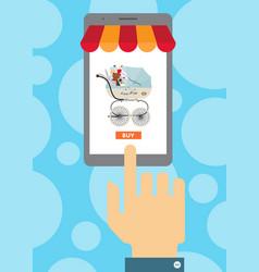 Baby store website in smartphone screen vector