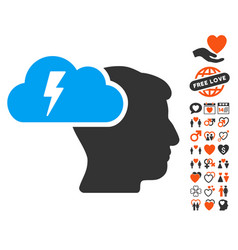 Brainstorming icon with lovely bonus vector
