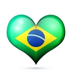 Brazil Heart flag icon vector image vector image