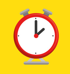 Clock alarm isolated icon vector