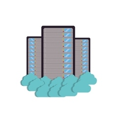 cloud data center server storage technology vector image