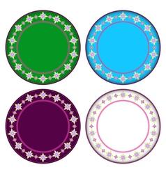 Colorful Gazania circle frame vector image