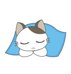 Cute cat character vector