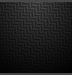 Dark striped zig zag texture black carbon vector