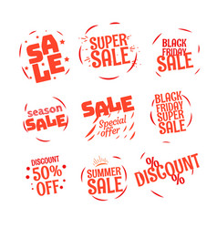 different color sale banners collection web promo vector image vector image