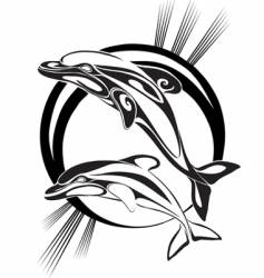 dolphins silhouette vector image