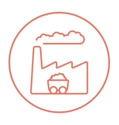 Factory line icon vector