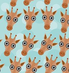 Giraffe seamless pattern with funny cute animal vector