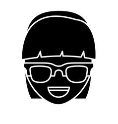 Glasses accessory icon vector