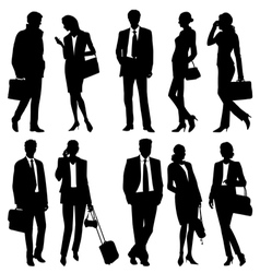 Global team silhouettes vector image vector image