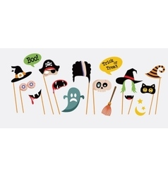 Halloween party photo booth collection vector