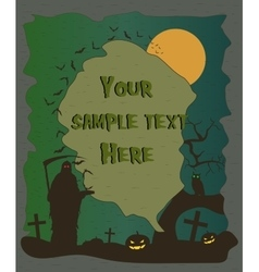 Halloween poster with grim reaper and pumpkins vector