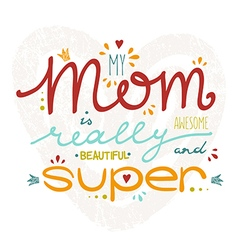 Hand drawn card for mothers day vector