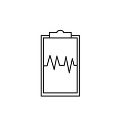 Health report icon vector