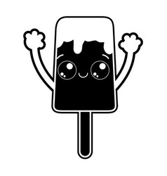 Isolated popsicle design vector