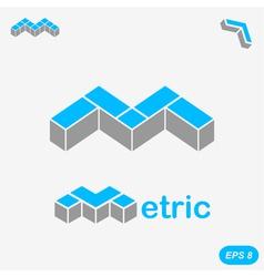 M letter logo concept on light gray background vector