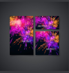 Multicolored explosive clouds of powder dye vector
