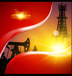 oil field vector image vector image