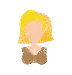 portrait girl celebration gesture vector image vector image