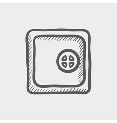 Safe vault sketch icon vector