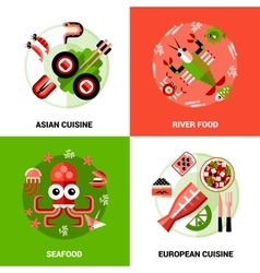 Seafood Design Concept vector image