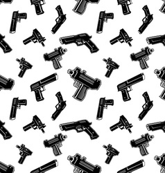 Seamless pattern with guns vector image vector image