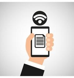 smartphone file internet wifi icon vector image vector image