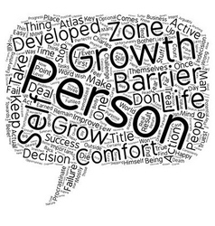 The Most Prominent Personal Growth Barriers text vector image vector image