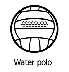 water polo icon simple black style vector image
