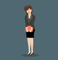 Weeping business woman vector image vector image