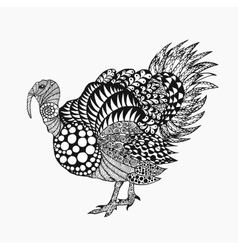 Zentangle stylized turkey vector