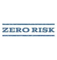 Zero risk watermark stamp vector