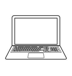 Laptop gadget device design vector