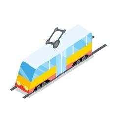 Public tram icon vector