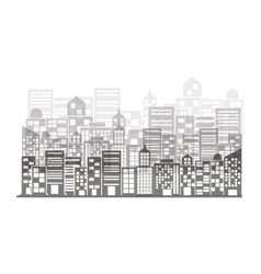 Monochrome building and city scene vector