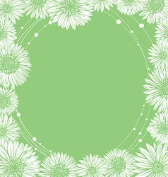 Floral frame template edge chamomile vector
