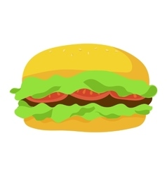 Fast food hamburger icon vector