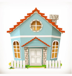 House home 3d icon vector
